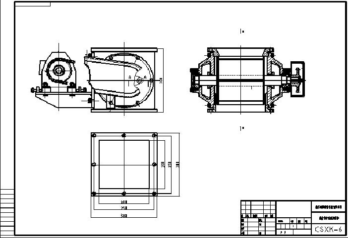 链条传动星型卸料器结构图纸