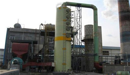 锅炉脱硫除尘器现场实拍图片